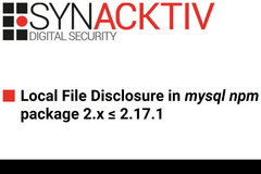 MySQL npm包中的本地文件泄露漏洞