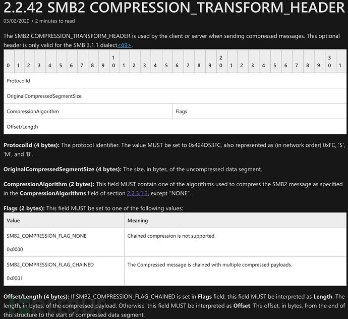 微软SMBv3 ClientServer远程代码执行漏洞CVE-2020-0796