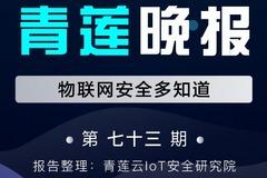 青莲晚报(第七十三期)| 物联网安全多知道
