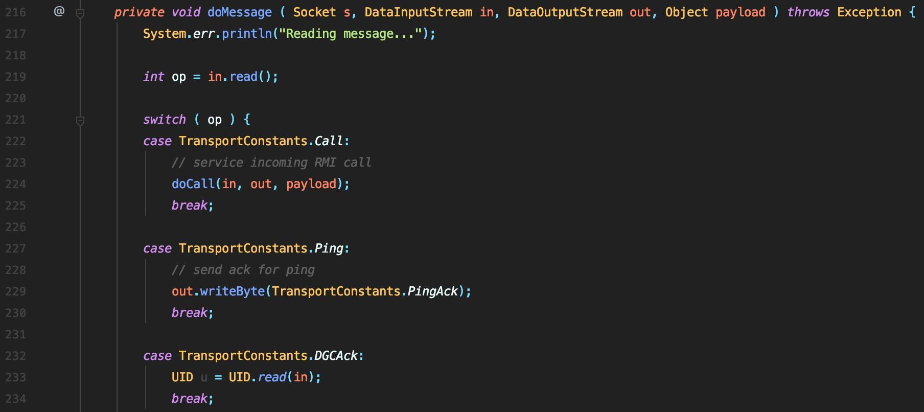 Java远程方法调用RMI利用分析