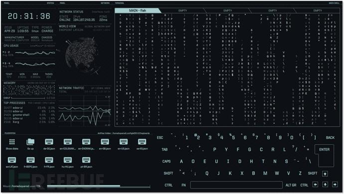 eDEX-UI:一款图形化且支持触屏的跨平台终端模拟器插图4