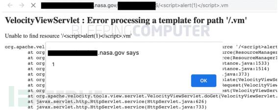Apache Velocity XSS漏洞影响政府网站,该漏洞已修复但未披露