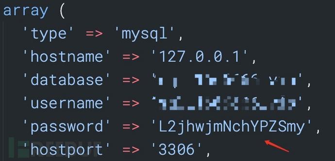 对应的数据库以及数据库账号密码