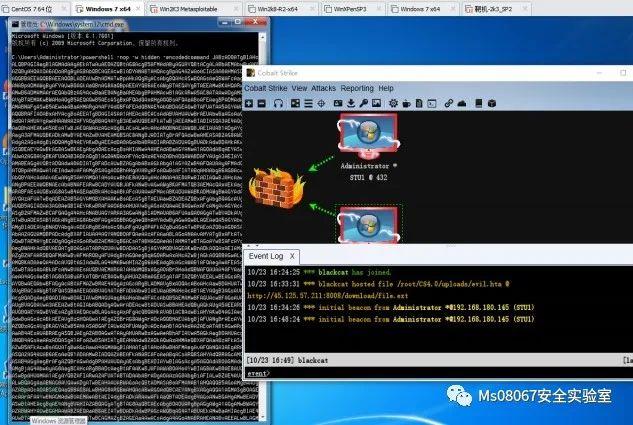 CobalStrike 4.0 生成后门几种方式 及 主机上线后基础操作
